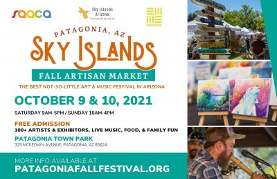 2021 Sky Islands Fall Artisan Market Patagonia Postcard